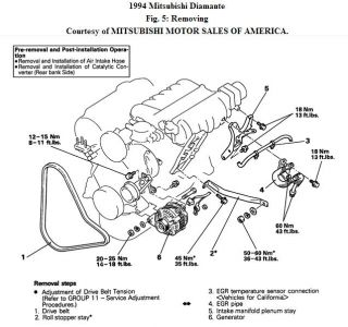 Index on mitsubishi diamante parts diagram