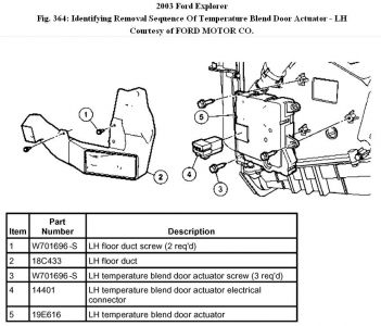 Blenddoor Explorerfig on 2003 ford expedition rear blend door actuator