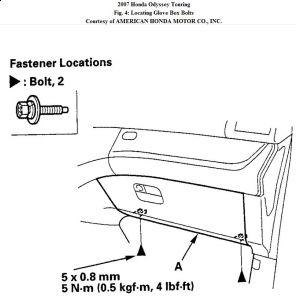 service manual  2009 honda accord glove box installation
