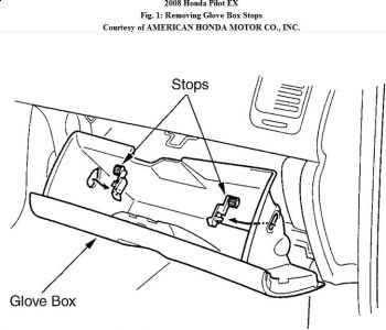 Glove Box Diagram 2006 Honda Pilot