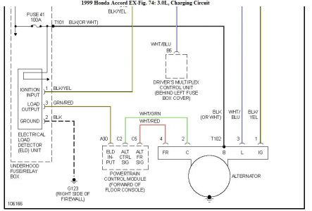 192750_Charging99Accord6cyl01b_1 1999 honda accord alternator engine performance problem 1999 wiring diagram for honda accord 1999 at cita.asia