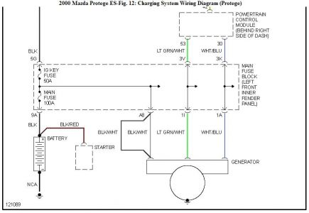 [DIAGRAM_38EU]  Battery Light: Four Cylinder Two Wheel Drive Automatic 90,000 ... | 2002 Mazda Alternator Wiring |  | 2CarPros