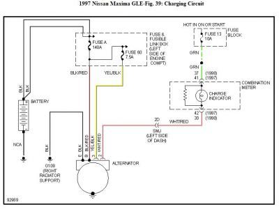 Alternator harness wire help - Maxima Forums