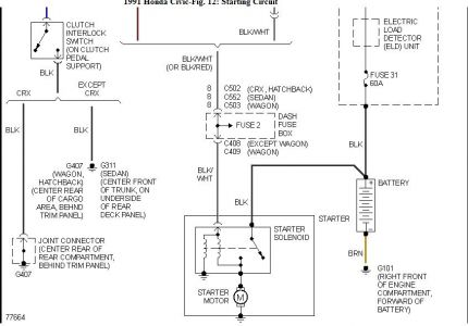 192750_Civic91BatteryFuse_1 1991 honda civic battery wiring diagram electrical problem 1991 2003 honda civic wiring diagram at bayanpartner.co