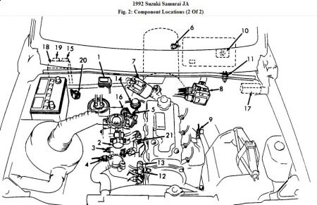 192750_Component92Samurai_1 1992 suzuki samurai engine throttle issues engine performance Suzuki Motorcycle Wiring Diagrams at bayanpartner.co