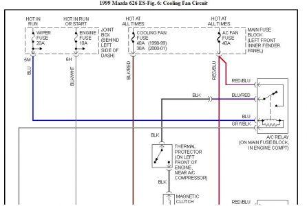 on 01 mazda 626 wiring diagram