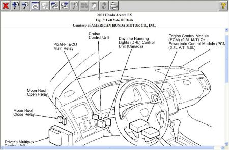 2005 honda accord ecu wiring diagram 2001 honda accord drivers side high beam and drl's do not w