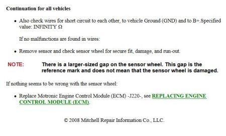 2002 Volkswagen Jetta DTC Code PO321: My Daughter's VW Died