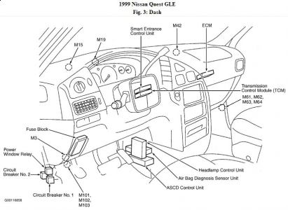 2001 Nissan Maxima  puter Location on jeep cherokee turn signal wiring diagram