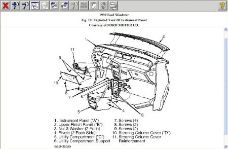 Directions How To Replace The Heater Door On A 2000 Ford Explorer on 1998 ford windstar door sensor