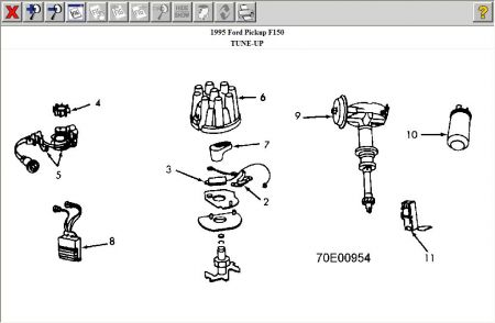 192750_Distributor95FordF150_1 1995 ford f150 no start engine stall electrical problem 1995 ford ford distributor diagram at crackthecode.co