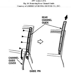 1997 Acura Cl Installing Driver Side Window Regulator