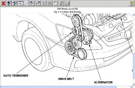 T16966474 Replacing fan belt kubota tg1860 additionally Honda Accord 2003 Honda Accord Honda Accord Serpentine Belt moreover T5341992 Need serpentine belt diagram 2001 ford additionally Honda Accord 2003 Honda Accord Drive Belt further 2007 Suzuki Xl7 Diagrams. on is the serpentine belt same as timing