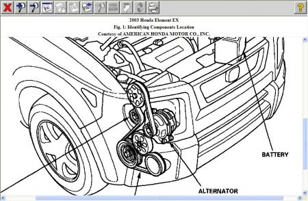 Honda Element 2003 Honda Element Alternator on 4 wire alternator diagram