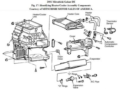 ford air conditioning orifice tube location