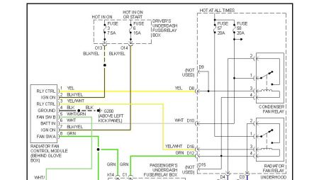 1998 honda accord aircon fan stays on after engine shutdown, Wiring diagram