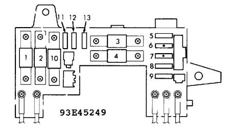 192750_FuseBox91Intergra_1 1991 acura integra rear defogger, light chime, intermittent 1991 acura integra fuse box diagram at gsmportal.co