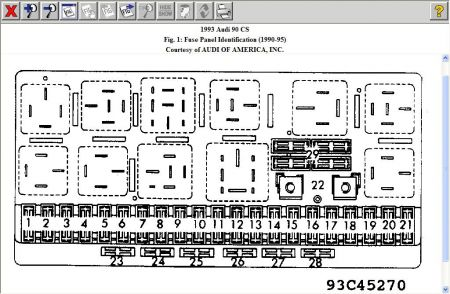 1996 audi 80 fuse box wiring diagram  1996 audi 80 fuse box #5