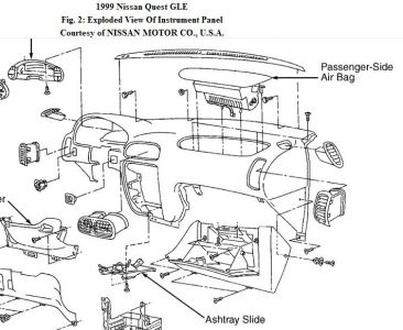 192750_GloveBox99Quest_2 1999 nissan quest raidator fan did not turn on low speed on electric radiator fan wiring diagram 1995 mercury villager