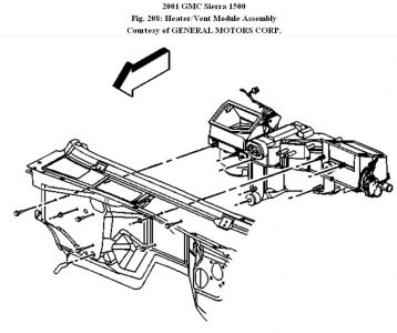 gmc sierra heater core diagram gmc sierra fuse panel diagram 2001 gmc sierra heater core: coolant leaking from tube ...