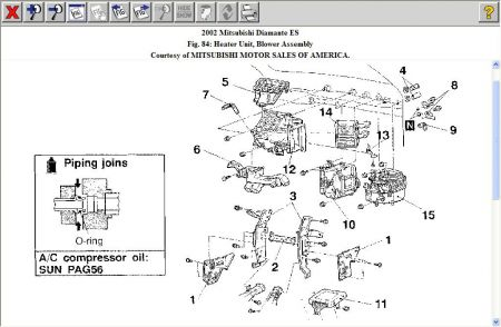 192750_HeaterCore02Diamante01a_1 engine diagram 2002 mitsubishi diamante es engine engine Mitsubishi Endeavor Fuse Box Diagram at reclaimingppi.co