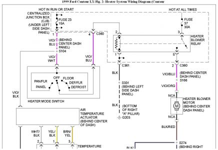 192750_HeaterWiringContour99Fig02a_1 1999 ford contour blower fuse defrost setting heater problem 1998 ford contour wiring diagram at downloadfilm.co