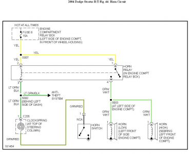 192750_HornCircuit04StratusFig44_1 2004 dodge stratus weird horn issue electrical problem 2004 dodge 2000 dodge stratus wiring diagram at edmiracle.co