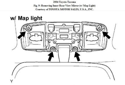 2004 toyota tacoma inside rear view mirror interior 2x12 wiring diagram