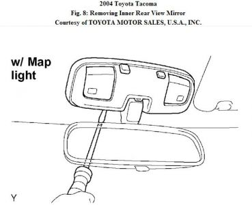 toyota tacoma rear view mirror removal