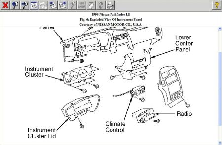 350z fuse box diagram with 1999 Nissan Pathfinder Instrument Panel Diagram on 2003 Nissan Murano Fuse Box Location together with 1999 Nissan Pathfinder Instrument Panel Diagram also Wiring Diagram Likewise Bmw Headlight Further also 2004 Nissan Altima Fuse Box Diagram Pdf besides Spark Plugs 2004 Chrysler Pacifica 3 5 Engine Diagram.