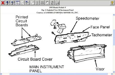1993 honda prelude digital gauges on my instrument panel. Black Bedroom Furniture Sets. Home Design Ideas