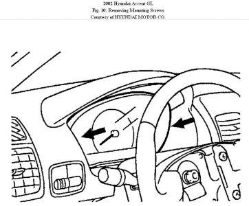 2002 hyundai accent dash lights  interior problem 2002