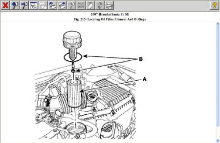 2007 Hyundai Santa Fe Oil Filter Location: I Cannot Locate the Oil...