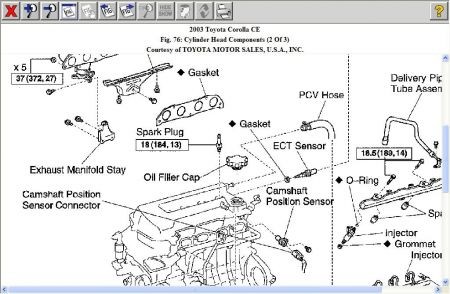 toyota 4afe engine diagram toyota previa parts schematics