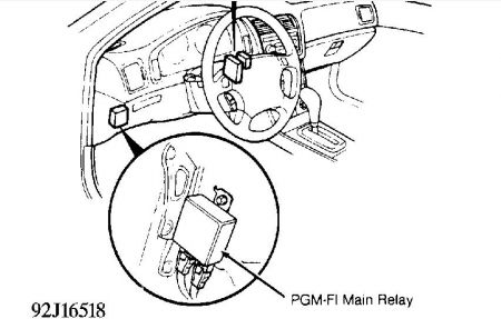 Pgmfirelay Legend on 1991 Acura Integra Fuel Pump Relay Location