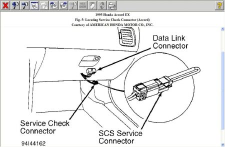 95 Honda Accord Diagnostic Connector Location on fuse box diagram 1994 vw golf