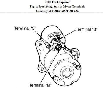 2002 ford explorer starter replacement: i removed the old ... 1993 ford starter wiring diagram free picture 340a ford starter wiring diagram #7