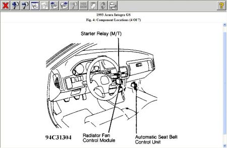 Starter Relay Location 1997 Acura on 93 acura integra fuel pump relay location