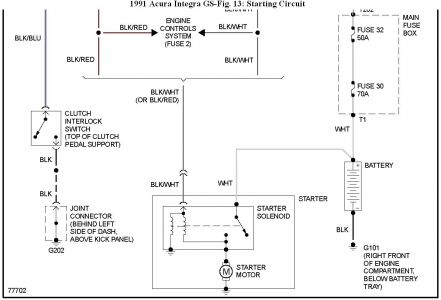 192750_Starting91IntegraFig13b_1 1991 acura integra ignition and starter electrical problem 1991 1999 acura integra wiring diagram at mifinder.co