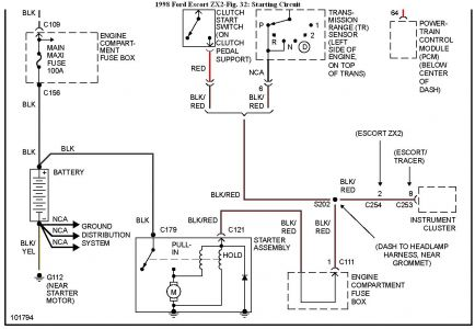 wiring diagrams ford escort zx the wiring diagram 1998 ford escort intermittent starting 1998 escort zx2 wiring diagram