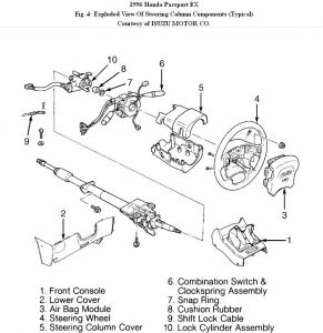 Honda Passport 1996 Honda Passport Replacing Ignition on honda passport parts diagram