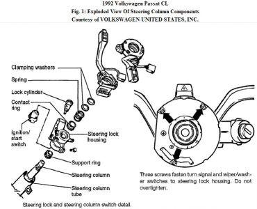 1992 volkswagen passat key switch  steering problem 1992