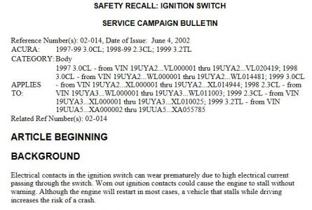 What are the symptoms of defective ignition module