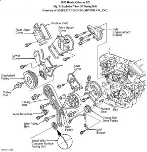 1993 Honda Accord Sensor Locations further Showthread in addition Nissan O2 Sensor Downstream Location moreover How To Replace The Exhaust Manifold On All 1996 2000 Honda Civic Lx Del Sol 16l 4 Cyl Engines together with T4636353 Timing belt marks diagram suzuki swift. on engine diagram 2000 honda odyssey