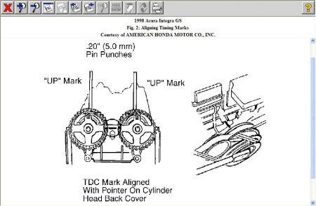 1998 acura integra ign marks engine mechanical problem 1998 acura rh 2carpros com 1994 acura integra timing marks 1995 acura integra timing marks