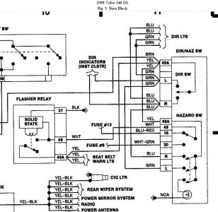 192750_TurnSignalSchematic88Volvo240_1 1991 volvo 240 dl fuse box 1991 wiring diagrams instruction 1992 volvo 240 fuse box diagram at n-0.co