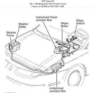Saturn Sl1 1999 Saturn Sl1 Windshield Wiper Motor