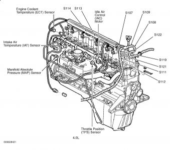 T3099915 2004 jeep liberty replacing starter as well T25931350 Cannkt find location coolant temperature also 1994 Ford Taurus 3 0 Engine Diagram as well Mazda 6 4 Cylinder Thermostat Location together with Timing marks 5 hemi. on 2002 jeep liberty firing order diagram
