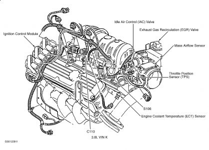 Chevrolet Impala 2001 Chevy Impala Throttle Position Sensor on Diagrams Of Chevy 4 Cylinder 2 8 Liter Engine