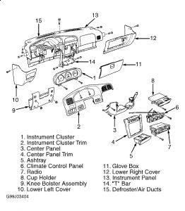 Graphic on 2002 Kia Sportage Heater Core